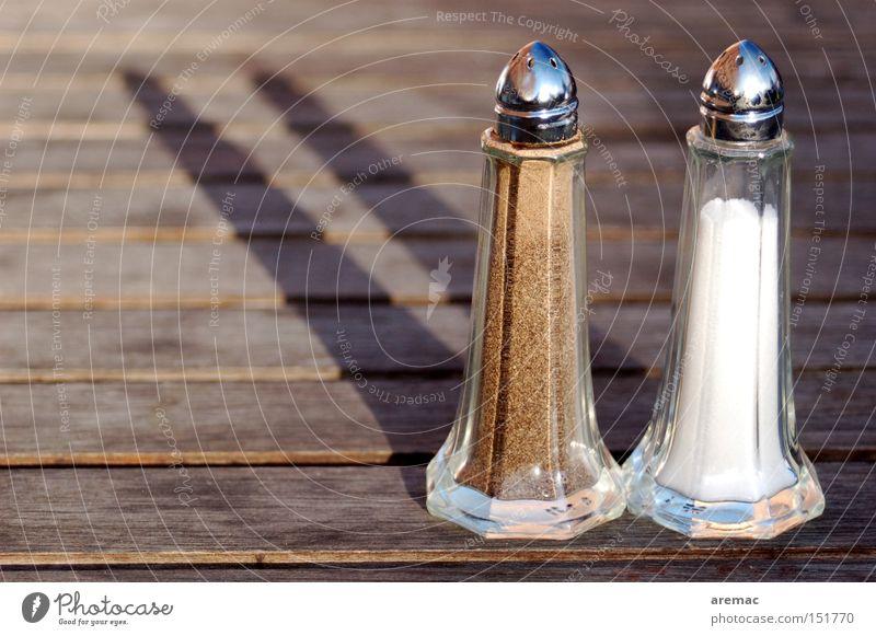 Togetherness II. Cooking salt Pepper Salt caster Pepper caster Detail Herbs and spices Restaurant Nutrition Shadow Gastronomy Obscure shaker