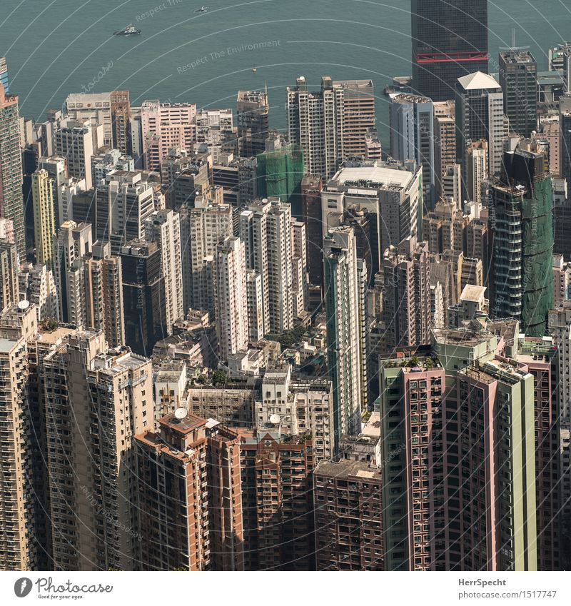 Slowly getting tight Hongkong Port City Downtown Skyline House (Residential Structure) High-rise Manmade structures Building Architecture Balcony Window