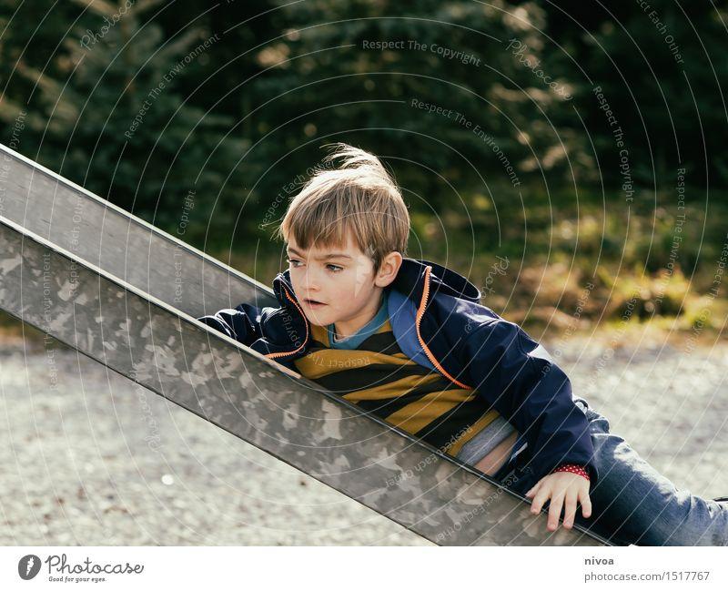 Human being Child Nature Tree Joy Winter Life Emotions Autumn Boy (child) Playing Gray Masculine Park Free Blonde