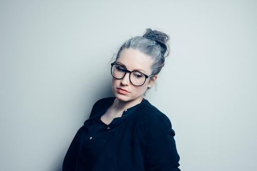 Human being Woman Youth (Young adults) Beautiful Young woman Calm 18 - 30 years Adults Life Feminine Gray Moody Authentic Esthetic Eyeglasses Female senior