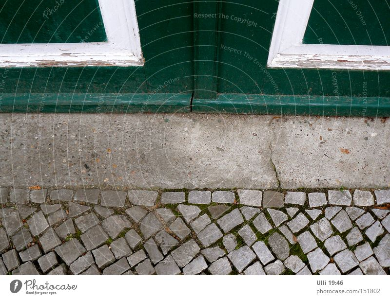 Green Calm Street Cold Wood Stone Earth Door Concrete Closed Floor covering Gloomy Clean Transience Under Gate