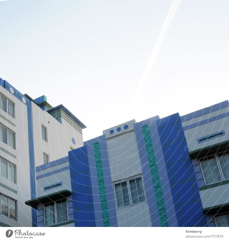 Vacation & Travel House (Residential Structure) Building Architecture Design Facade Modern USA Hotel Americas Promenade Paintwork Miami