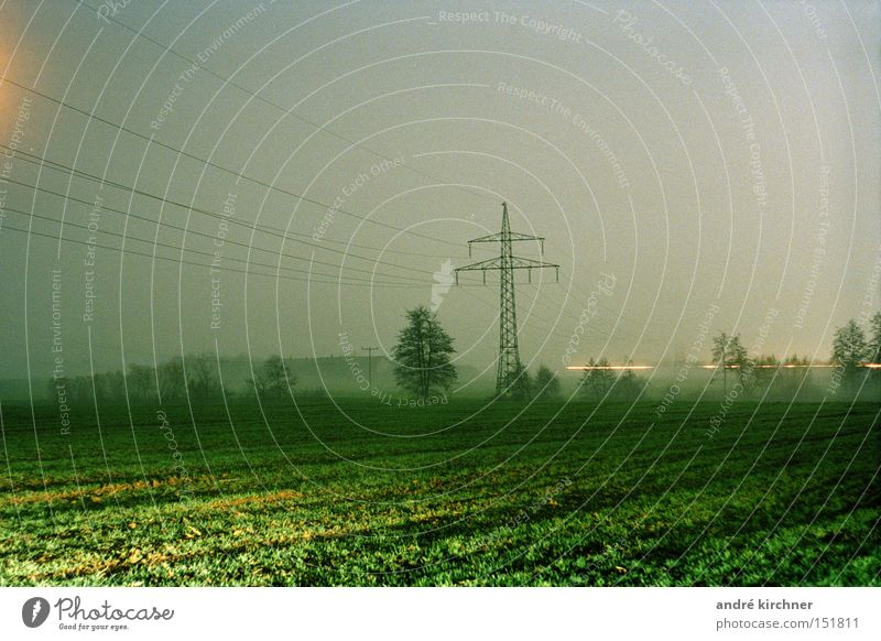 Sky Tree Autumn Movement Grass Field Gloomy Free Energy Communicate Electricity Telecommunications Soft Cable Grain Harvest