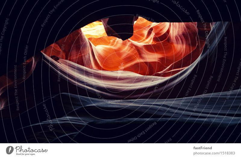 The Eye of the Dragon Earth Sand Warmth Rock Desert Esthetic Antelope Canyon Americas USA Cave Colour photo Subdued colour Exterior shot Day Light Shadow