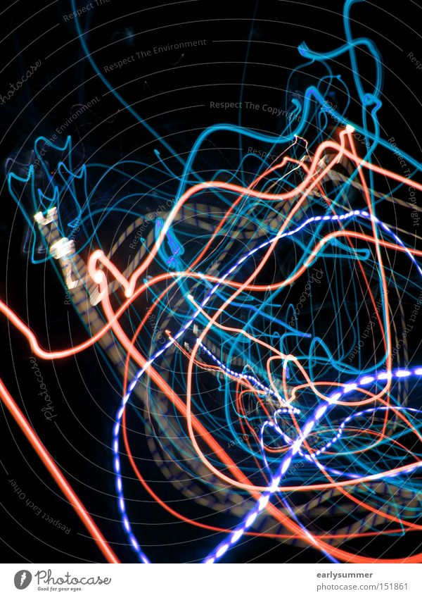 Blue Red Black Abstract Light Technology Telecommunications Science & Research Visual spectacle LED Laser High-tech