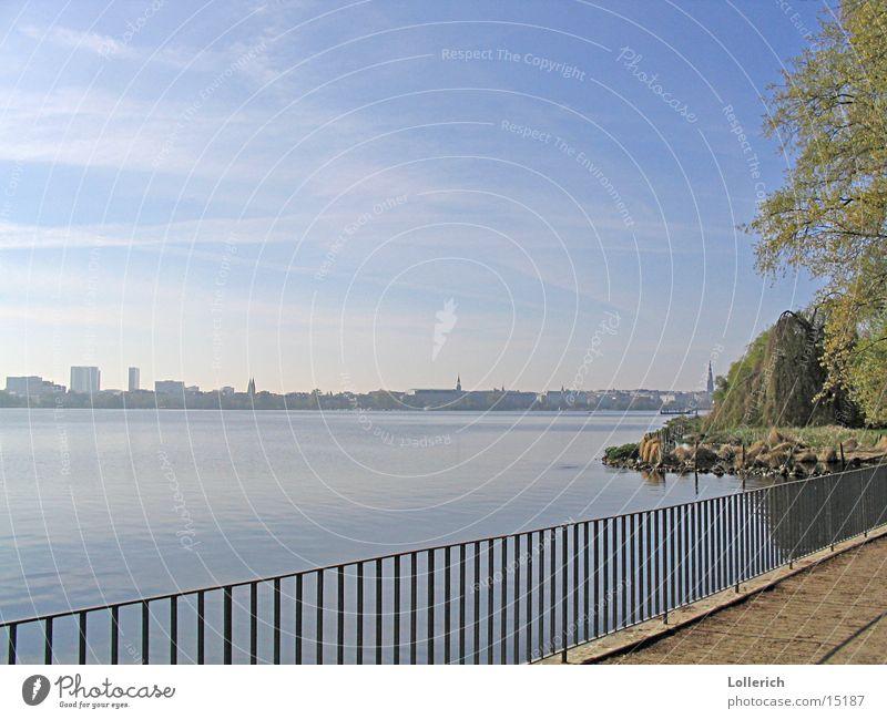 Alster Hamburg Water Coast Handrail Nature