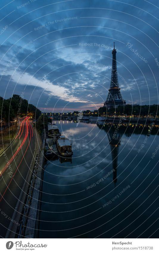 classic River bank Seine Paris France Capital city Downtown Tower Manmade structures Architecture Tourist Attraction Landmark Eiffel Tower Esthetic Famousness