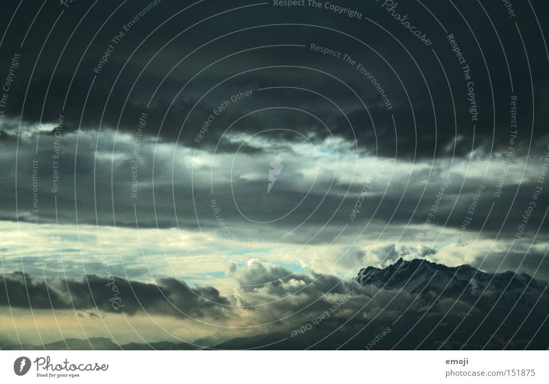 Sky Clouds Mountain Air Weather Threat Alps Level Storm Switzerland Thunder and lightning Bad weather Storm clouds Natural phenomenon Cloud cover Lucerne