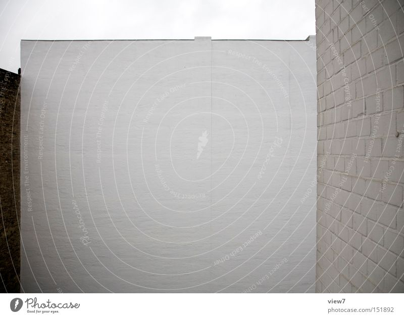 White Colour Wall (building) Wall (barrier) Background picture Gloomy Brick Farm Plaster Boredom Poster