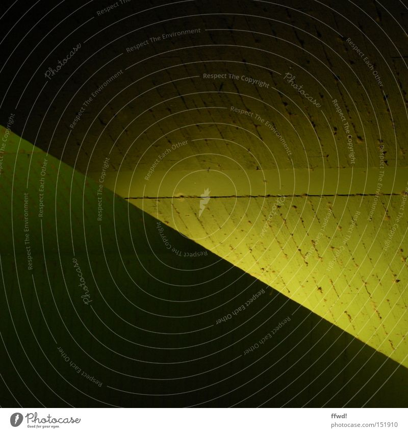 Green Yellow Colour Dark Concrete Crazy Bridge Simple Diagonal Geometry