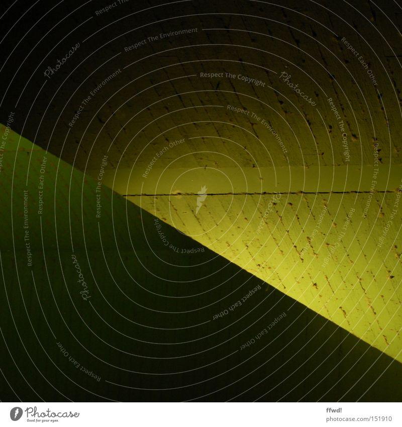 Green Yellow Colour Dark Concrete Crazy Bridge Simple Diagonal Geometry