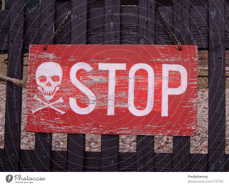 Stop sign of a different kind Warning sign Things Signs and labeling