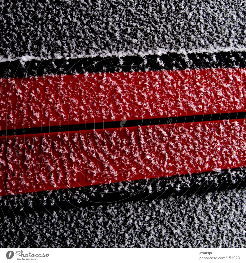 Geometry [winter edition] Red Ice Cold White Line Illustration Metal Snow Minimal Abstract Black Obscure Macro (Extreme close-up) Close-up Winter Frost Stripe