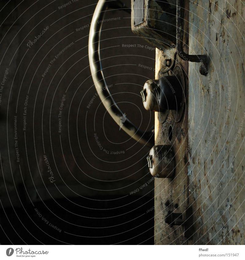 Old Metal Railroad Industry Industrial Photography Transience Wheel Rust Machinery Door handle Switch Steering wheel Crank