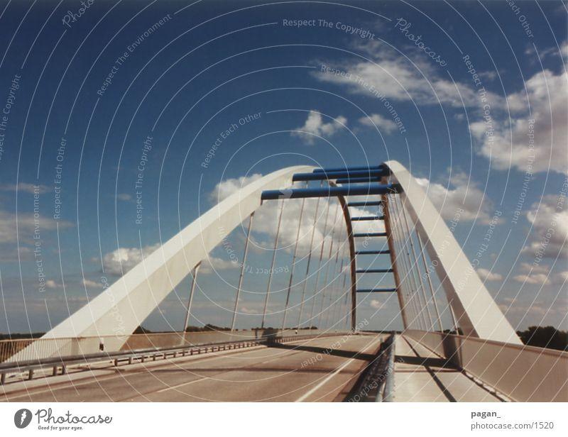 Sky Blue Street Architecture Bridge Elbe River