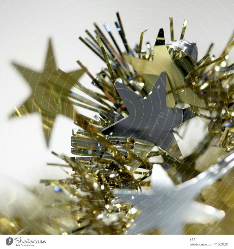 Gold Glittering Star (Symbol) Decoration Silver Macro (Extreme close-up) Ornament Glimmer Star of Bethlehem