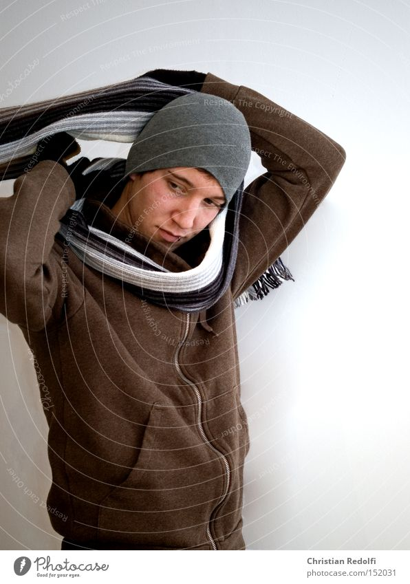 Human being Man Winter Fashion Clothing Model Cap Hip & trendy Appearance Piercing Gloves Scarf Jewellery
