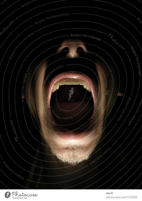 Human being Face Lighting Mouth Fear Dangerous Threat Creepy Anger Scream Panic Aggravation Frightening Scare