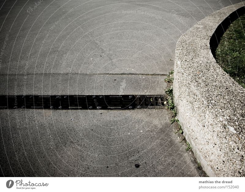 Black Street Death Cold Gray Stone Line Concrete Stairs Traffic infrastructure Still Life Curve Motionless Minerals Knoll