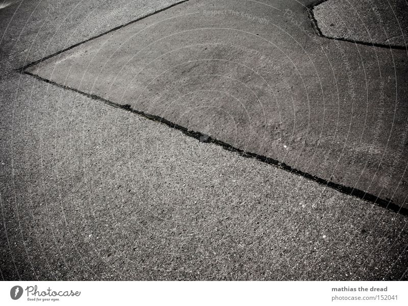 Black Street Death Cold Gray Stone Line Concrete Traffic infrastructure Still Life Motionless Minerals Unfriendly
