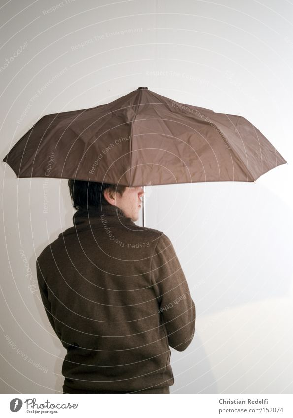 Human being Man Water Face Style Rain Weather Back Fashion Clothing Model Umbrella Hip & trendy Canopy
