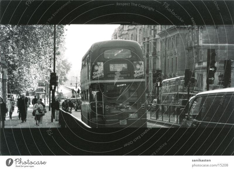 london1 London England Transport Street Bus Black & white photo Human being