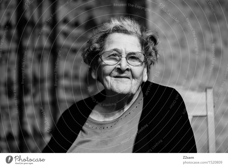 The best Flat (apartment) Feminine Female senior Woman Grandmother Family & Relations 60 years and older Senior citizen Eyeglasses Smiling Laughter Looking Sit