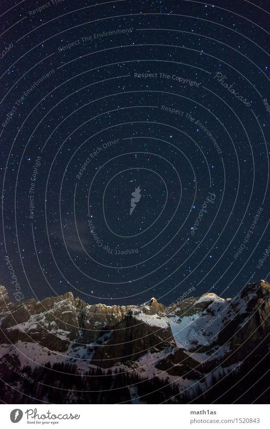 Mountain Snow Religion and faith Horizon Stars Peak Belief Snowcapped peak Peace Night sky