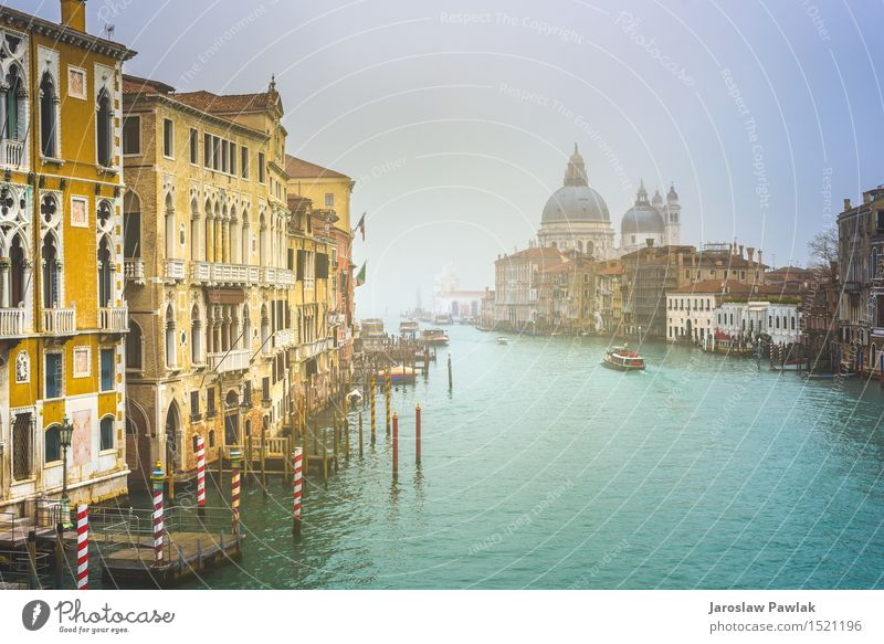 Urban landscape of Venice, water canals with boats. Vacation & Travel Tourism Summer Sun Ocean Island House (Residential Structure) Nature Landscape Sky Clouds
