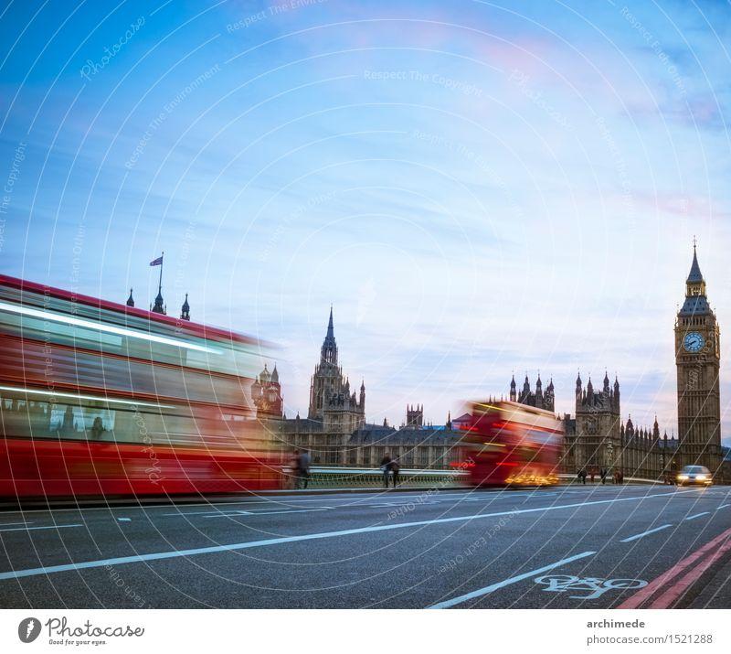 London skyline at twilight Vacation & Travel Trip River Town Skyline Transport Street Movement Speed Big Ben Great Britain landmark bridgem thames westminster