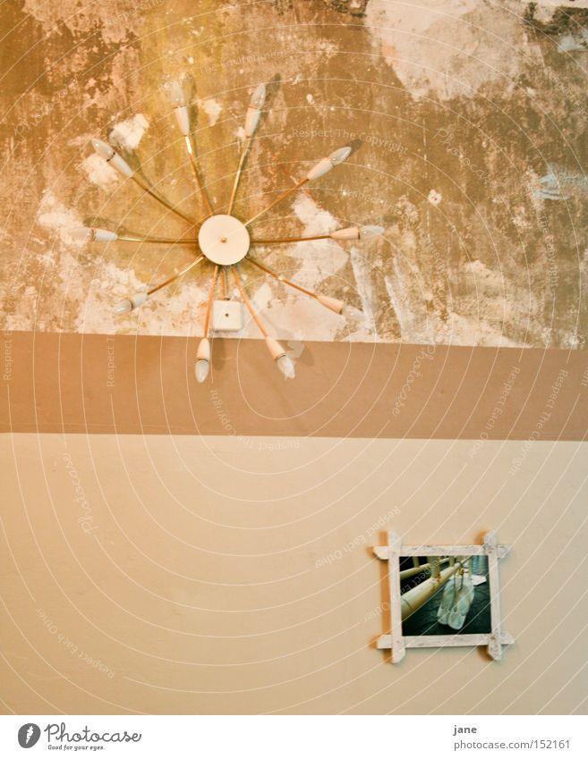 Lamp Wall (building) Footwear Grief Image Living or residing Wallpaper Distress Plaster Seventies Sixties