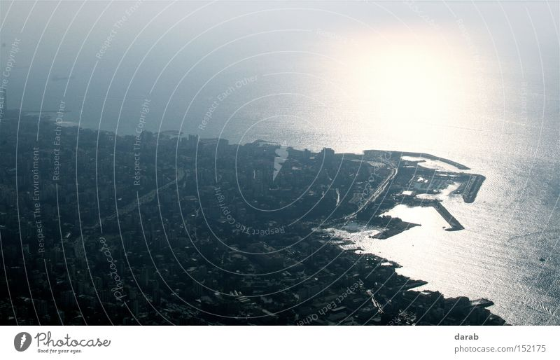 Water Sun Ocean City Far-off places Gray Bright Bird Coast Large Perspective Vantage point Concentrate Beirut Lebanon