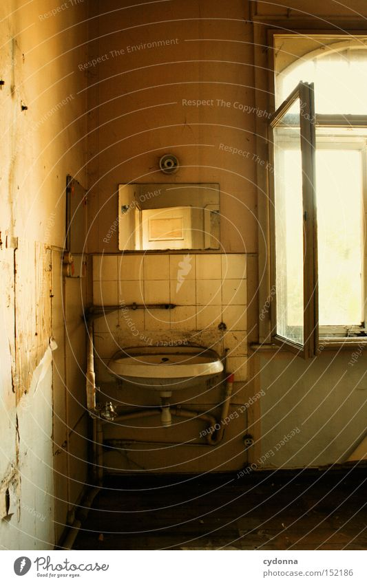 House (Residential Structure) Loneliness Window Room Time Living or residing Transience Mirror Derelict Nostalgia Villa Sink Old fashioned Classical Vacancy