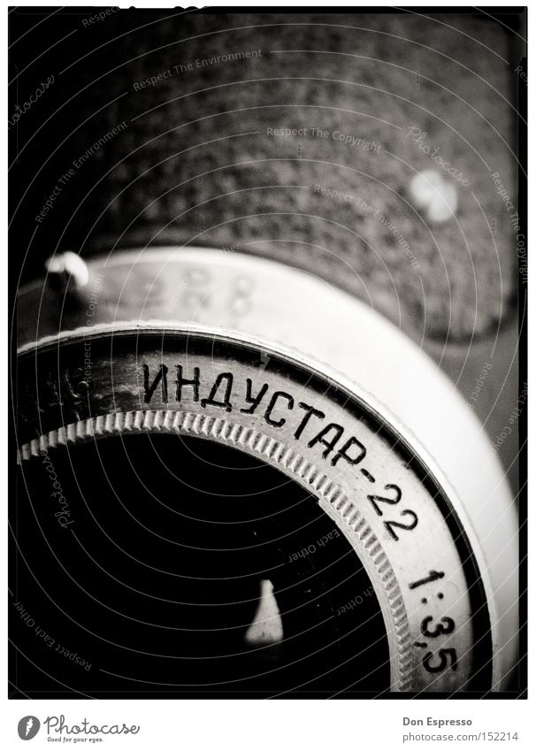 Old Photography Camera Analog Russia Nostalgia Former Objective Russian Black & white photo Macro (Extreme close-up)
