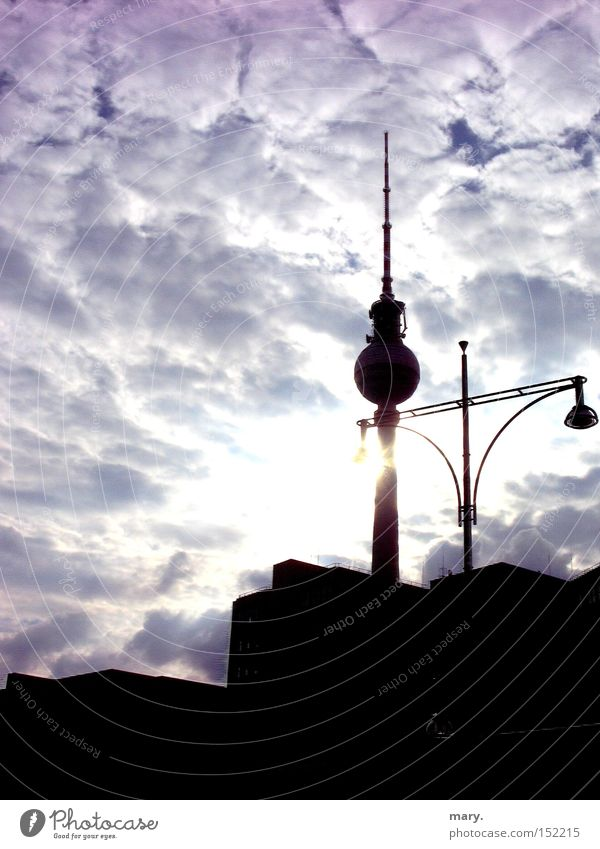 Sky Sun Clouds Berlin Art Culture Lantern Berlin TV Tower