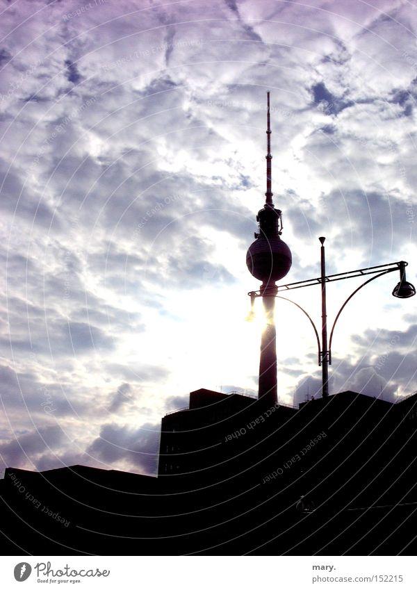 you are so wonderful, Berlin Sun Clouds Sky Sunbeam Lantern Art Culture Berlin TV Tower Town