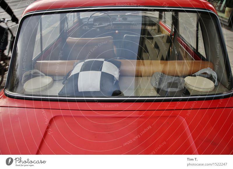 Lada hat shelf Transport Means of transport Passenger traffic Motoring Vehicle Car Kitsch Cushion lada Rack Rear Window Colour photo Exterior shot Deserted Day