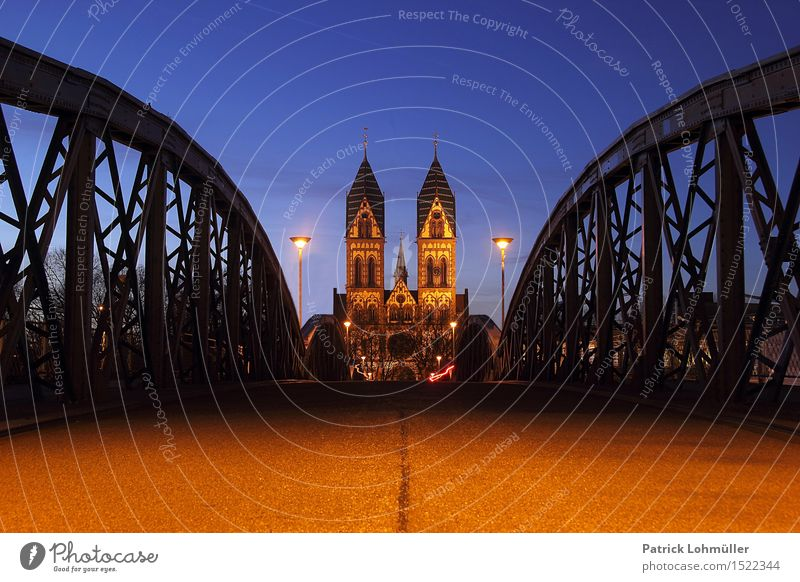 City Blue Architecture Religion and faith Building Exceptional Germany Esthetic Perspective Church Europe Beautiful weather Bridge Historic Manmade structures