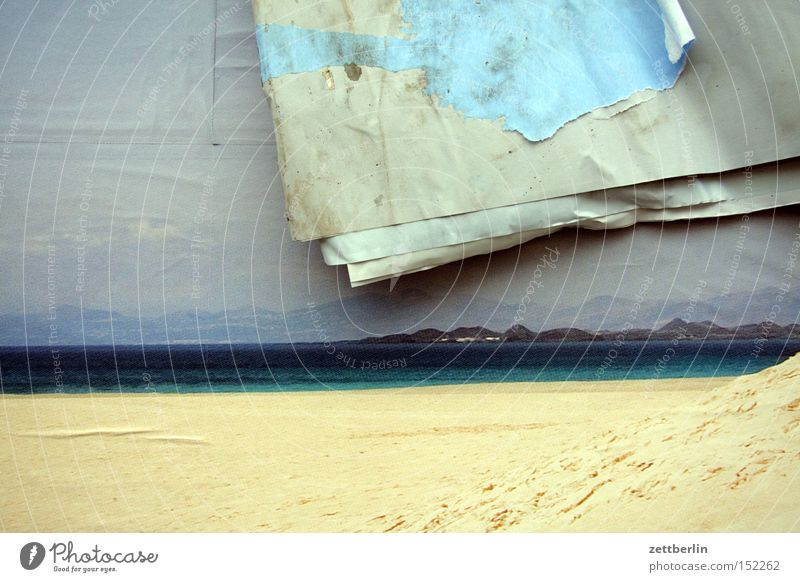 Ocean Beach Vacation & Travel Coast Photography Decoration Transience Advertising Poster Grid Really Fantasy Print shop Fictitious