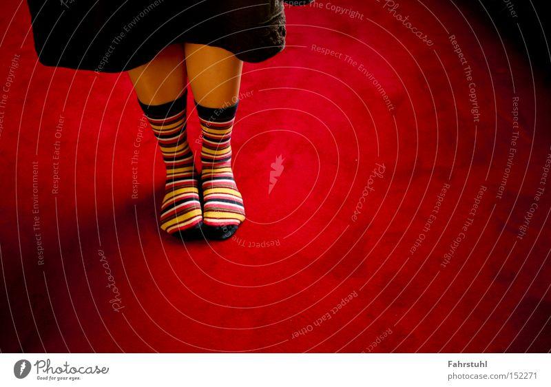 Woman Red Legs Clothing Skirt Living room Stockings Carpet Floor covering