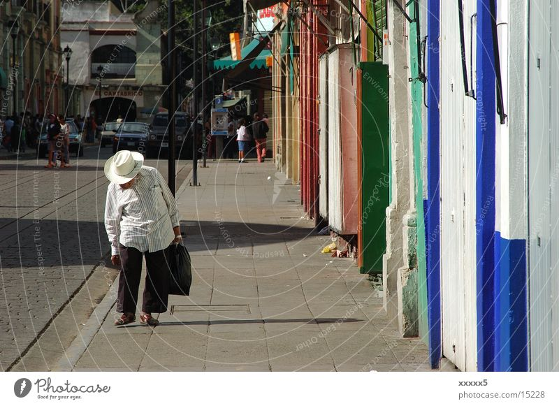 afternoon Afternoon Senior citizen Facade Siesta Calm South America Mexico Colour Hat Male senior