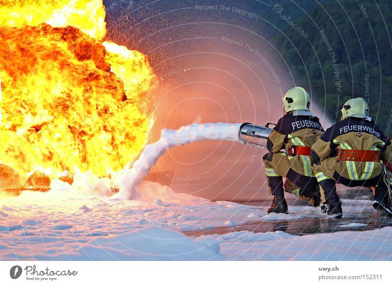Firefighter II Fireman Fire department Blaze Flame Foam Water Erase Disaster Yellow Light Dangerous Fighter Hero Burn Explosion Public service Threat