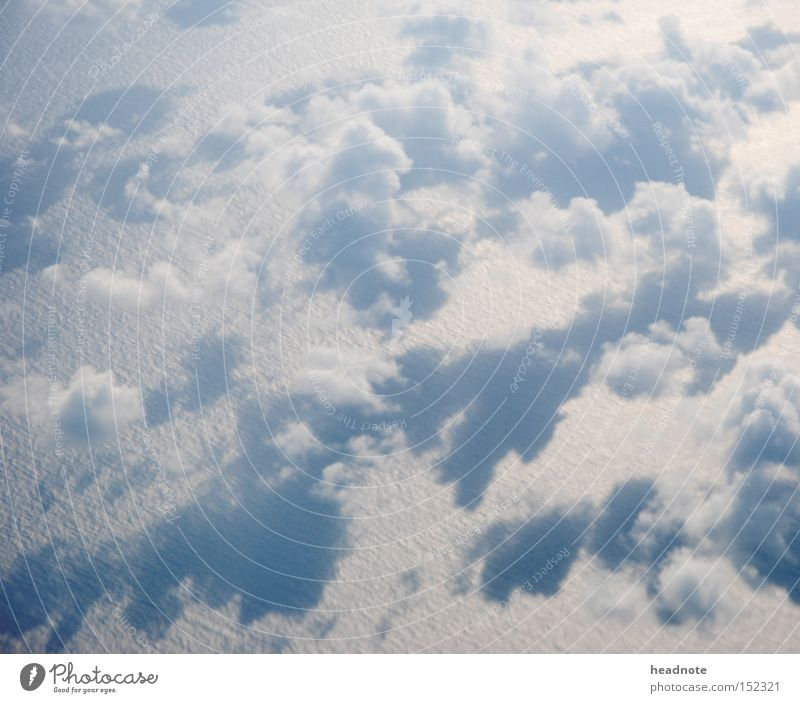 Before that! Over there! Of this! Clouds Ocean Shadow Light Above the clouds In transit Flying Vacation & Travel Travel photography Anticipation Expectation Gap