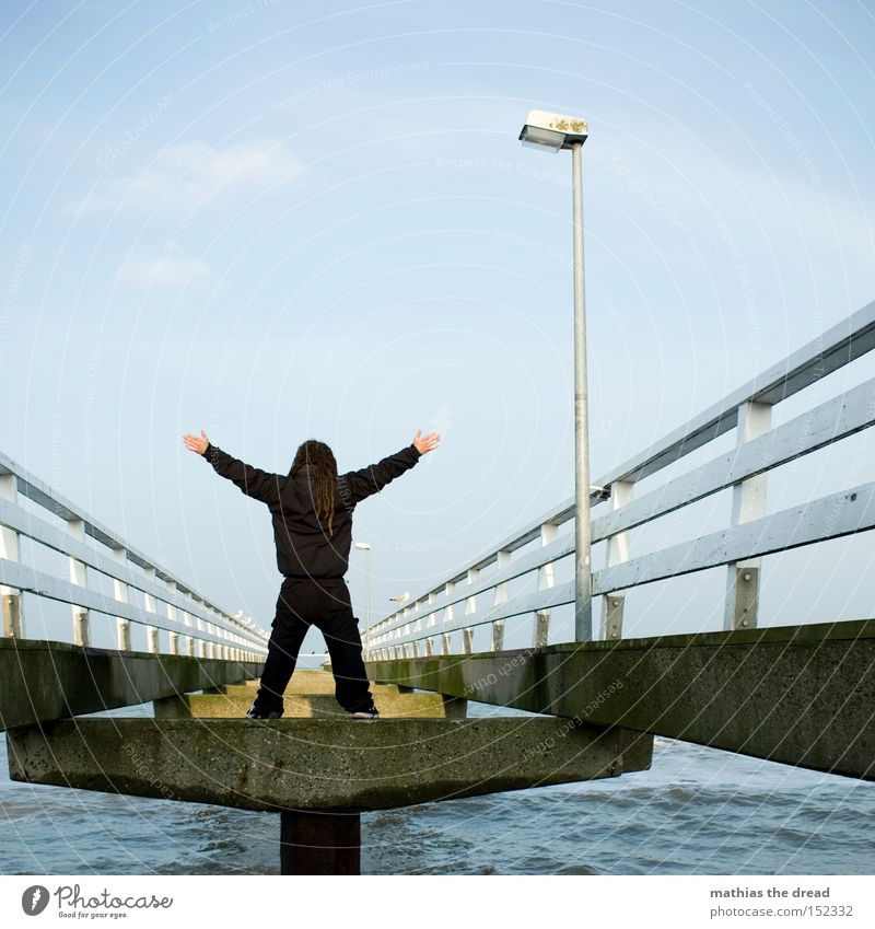 Man Water Sky Ocean Beach Black Loneliness Power Free Bridge Stand Brave Lantern Fence X-Men