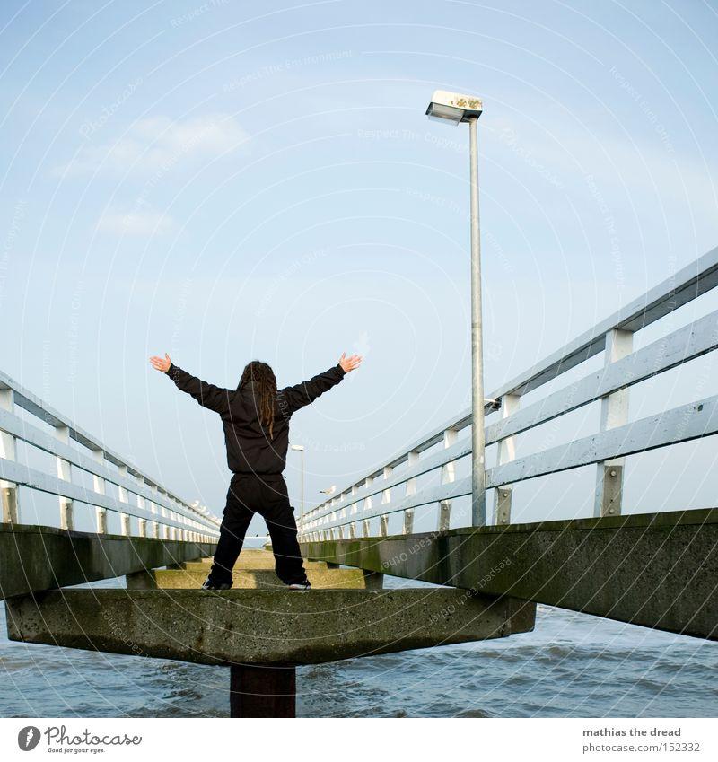 Man Water Sky Ocean Beach Black Loneliness Power Free Bridge Stand Brave Lantern Fence X-Men