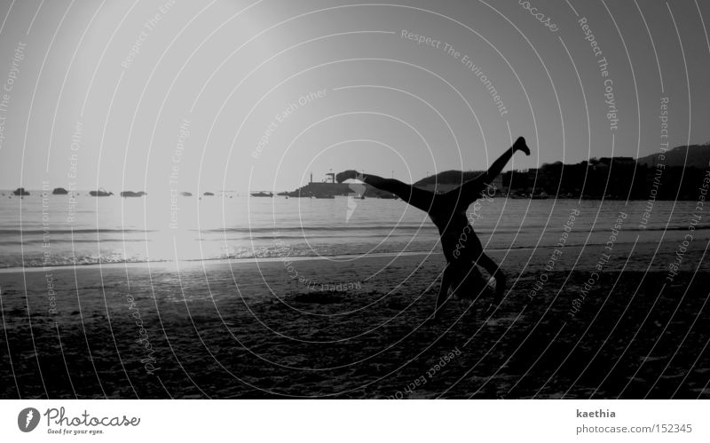 Human being Sun Ocean Beach Coast Waves Dance Bikini Cartwheel