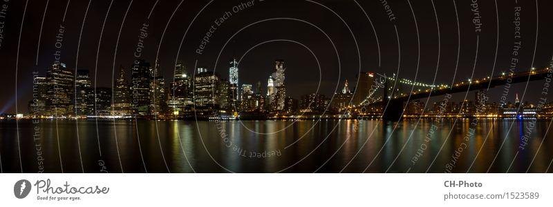 Panorama Manhattan Design Vacation & Travel Freedom City trip Flat (apartment) Office Business New York City Brooklyn Bridge Empire State building