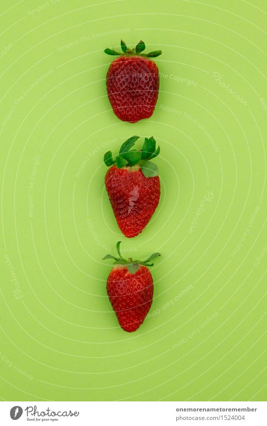 strawberry threesome Art Work of art Esthetic Strawberry Strawberry ice cream 3 Beaded Pattern Symmetry Delicious Healthy Eating Vegetarian diet Organic produce
