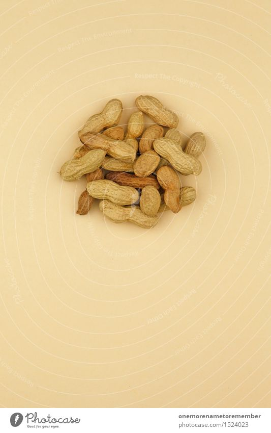 Peanut salad Art Work of art Esthetic Peanut harvest Delicious Snack Snackbar Brown Beige Many Healthy Eating Ecological Organic produce Sheath Colour photo