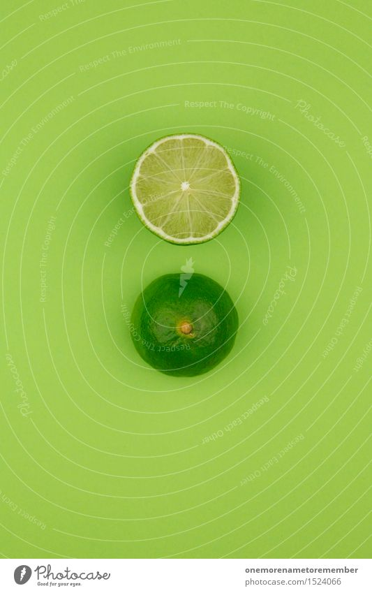 two limes, one's got it. Art Esthetic Green Grass green Crazy Sour Delicious Lime Slices of lime Beverage Cocktail Cocktail bar Fruit Healthy Vitamin C